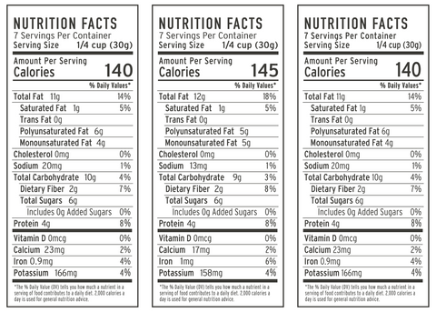 holiday granola nutrition facts by wildway