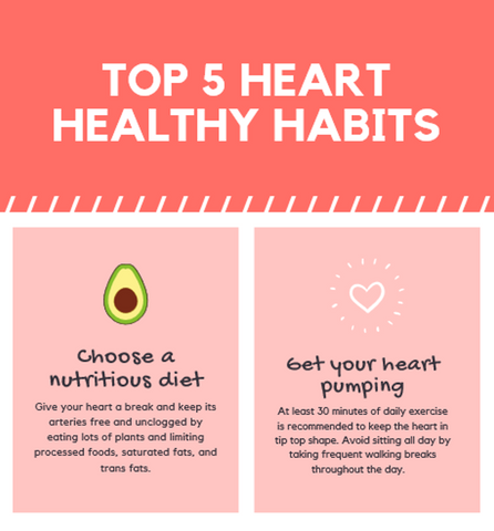 Top 5 heart healthy habits