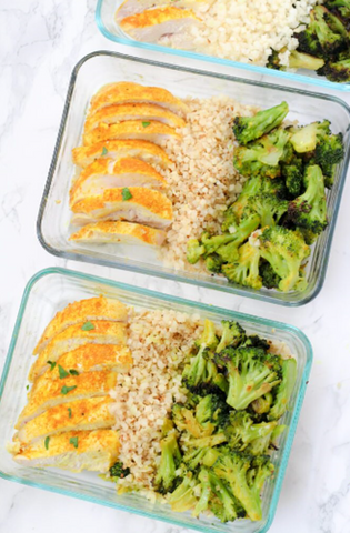 anti-inflammatory turmeric chicken meal prep bowls