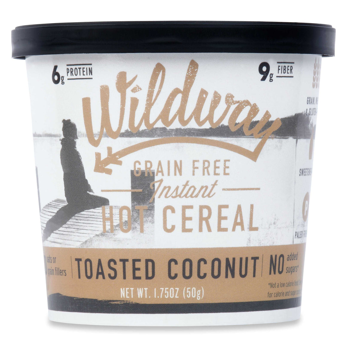 Grain-free Instant Hot Cereal Single Serve Cups: Toasted Coconut, 6 pack