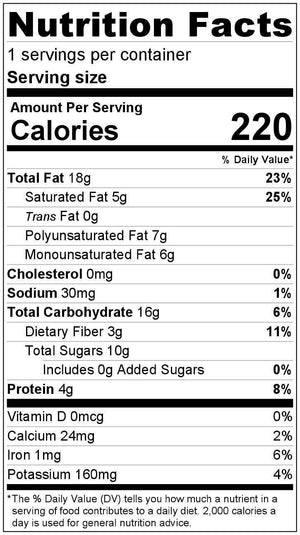 Healthy Snack mix nutrition facts by Wildway