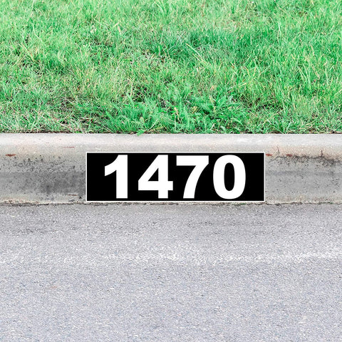 Address Curb Decals