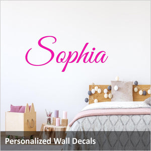 girls name wall stickers