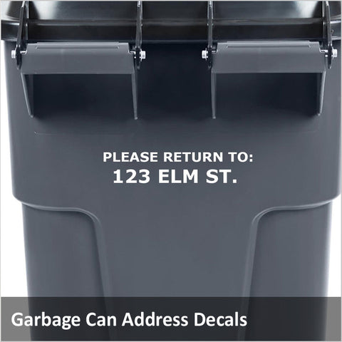 Garbage Can Decals