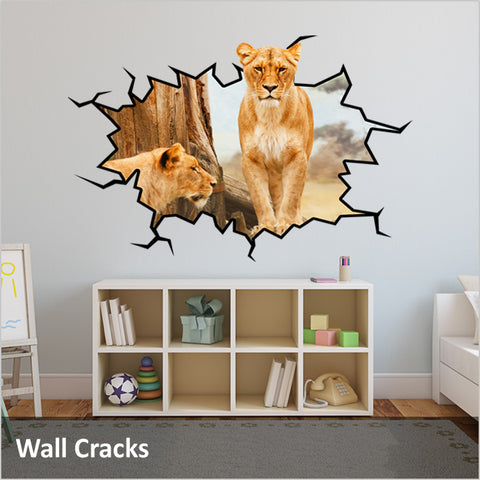 Wall Crack Decals