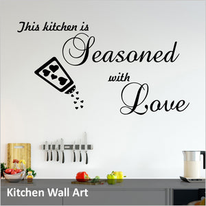 Kitchen Wall Art, Food and Dining Quotes Decals