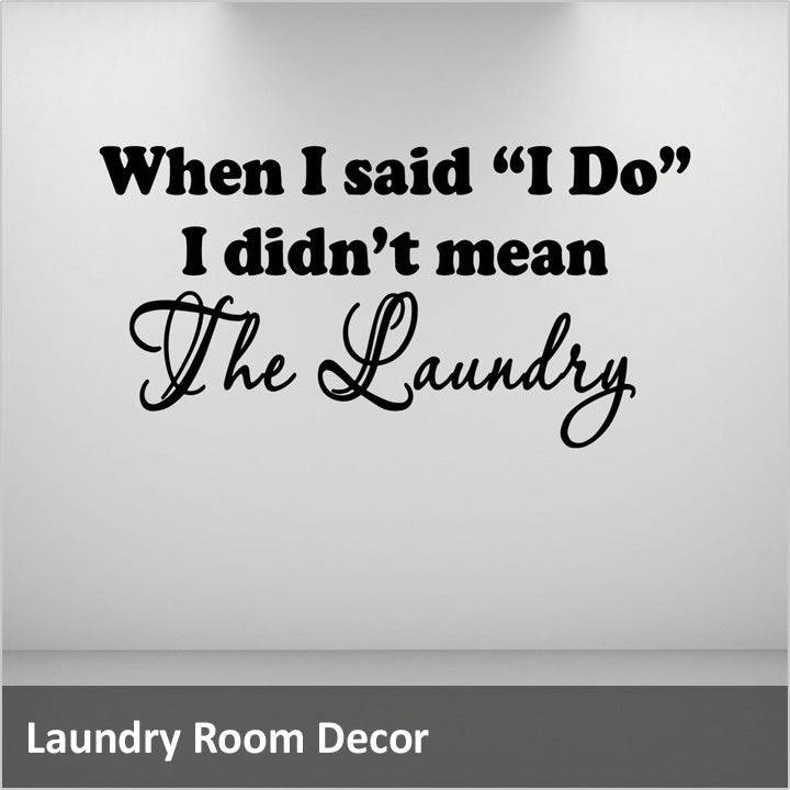 Laundry Wall Quotes Decals