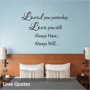 Love Quotes and Love Wall Decals