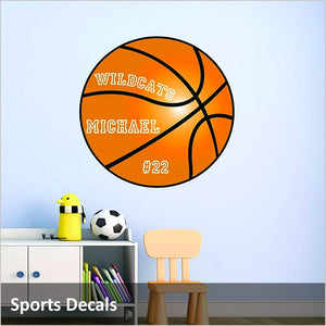 Sports Decals, Wall Decals for Football, Basketball, Baseball, MMA and More!