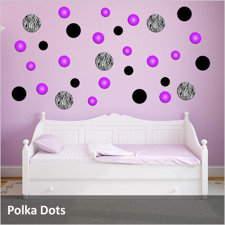 Rings and Dots Removable Wall Decals Peel & Stick Wall Art