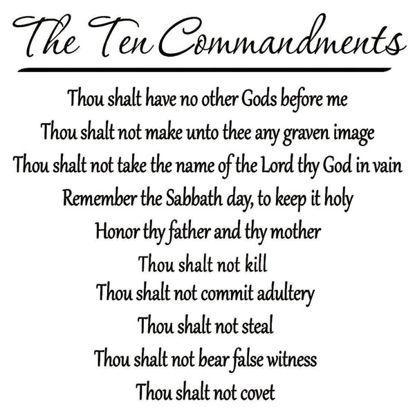 The Ten Commandments Wall Decal no background