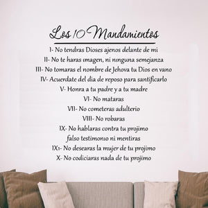 Ten Commandments Bible Decal in Spanish - VWAQ Vinyl Wall Art Quotes and Prints