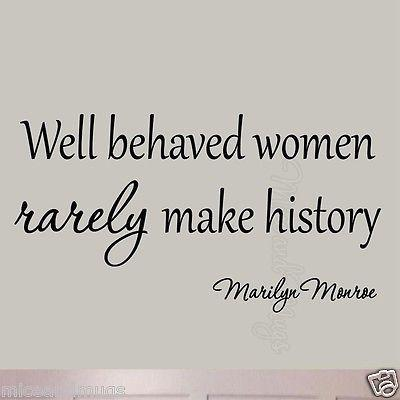 VWAQ Well Behaved Women Rarely Make History Marilyn Monroe Wall Decal - VWAQ Vinyl Wall Art Quotes and Prints