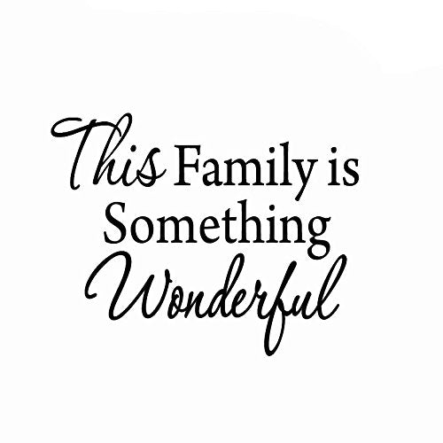 VWAQ This Family is Something Wonderful Vinyl Wall art Decal - VWAQ Vinyl Wall Art Quotes and Prints no background