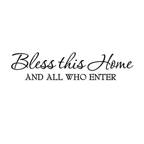 VWAQ Bless This Home and All Who Enter Religious Vinyl Wall Decal - VWAQ Vinyl Wall Art Quotes and Prints