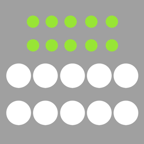 VWAQ White and Lime Green Peel and Stick Polka Dots Wall Decals - VWAQ Vinyl Wall Art Quotes and Prints