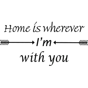 VWAQ Home is Wherever I'm You Vinyl Wall Decal Love Quotes Wall Decor - VWAQ Vinyl Wall Art Quotes and Prints