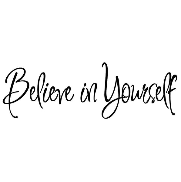 VWAQ Believe in Yourself Quotes Wall Decal Inspirational Saying - VWAQ Vinyl Wall Art Quotes and Prints