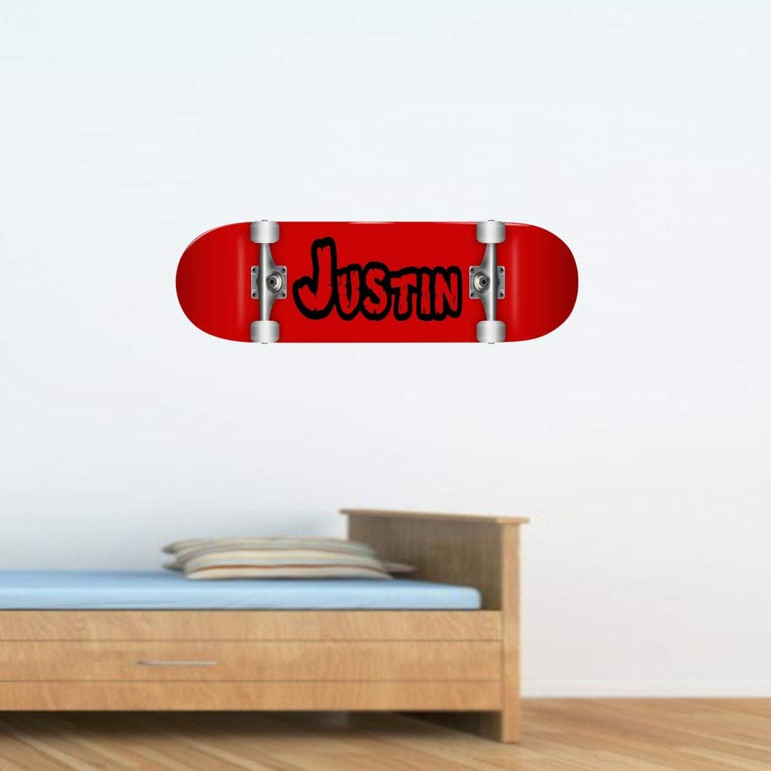 VWAQ Skateboard Custom Name Wall Decal - Insert Name, Peel and Stick Skateboard Decor - SK1 - VWAQ Vinyl Wall Art Quotes and Prints