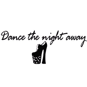 VWAQ Dance the Night Away Disco Wall Decals Quotes - VWAQ Vinyl Wall Art Quotes and Prints