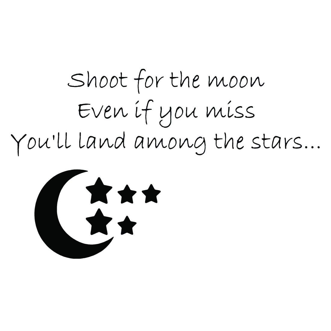 VWAQ Shoot For The Moon Even If You Miss You'll Land Among The Stars Vinyl Wall Decal -18096 - VWAQ Vinyl Wall Art Quotes and Prints