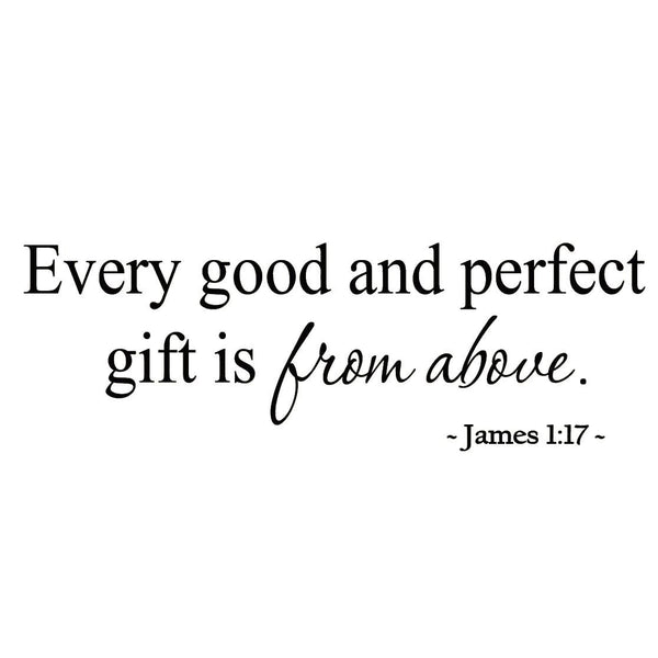 VWAQ Every Good and Perfect Gift is From Above Nursery Wall Quotes Decal - VWAQ Vinyl Wall Art Quotes and Prints