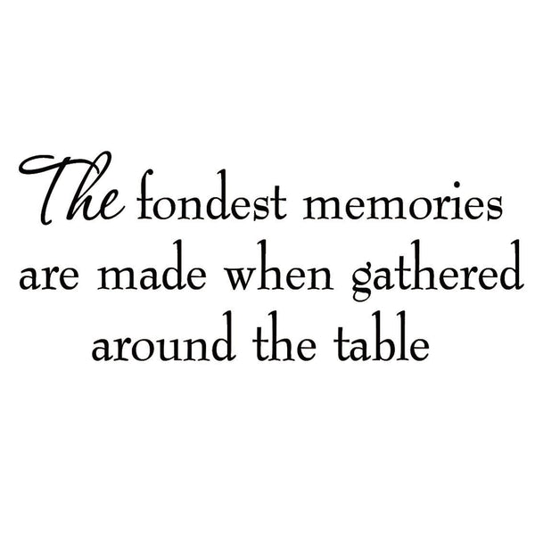 VWAQ The Fondest Memories Are Made Family Vinyl Wall art Decal - VWAQ Vinyl Wall Art Quotes and Prints no background