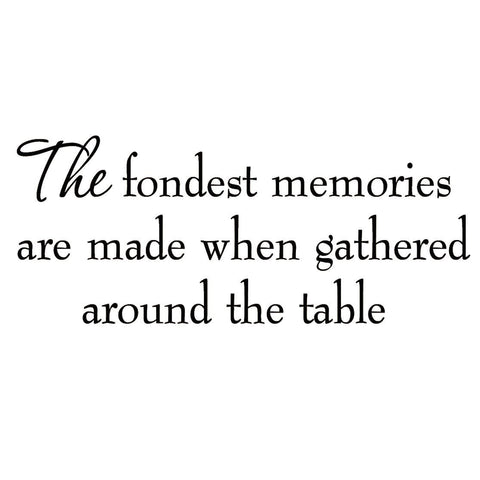 VWAQ The Fondest Memories Are Made Family Vinyl Wall art Decal - VWAQ Vinyl Wall Art Quotes and Prints