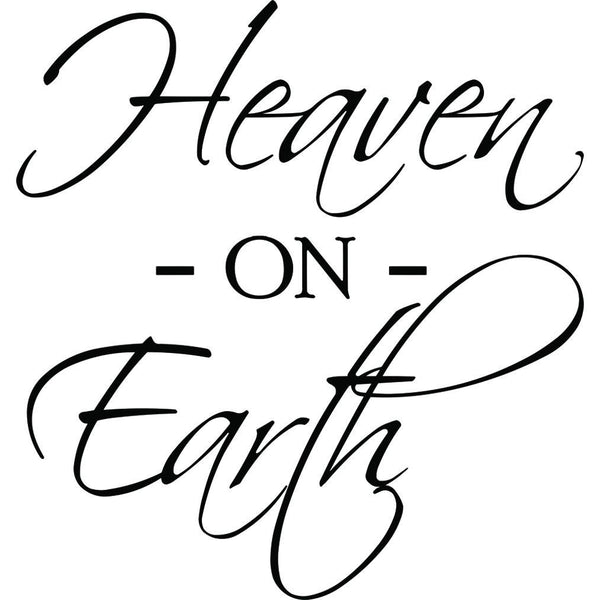 VWAQ Heaven On Earth Wall Decal - Heaven Quotes Wall Decor - Christian Sayings Wall Decals - VWAQ Vinyl Wall Art Quotes and Prints