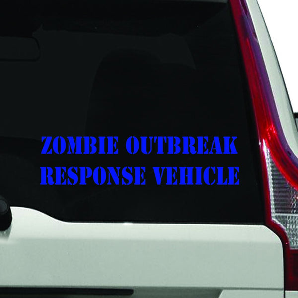 VWAQ Zombie Outbreak Response Vehicle Window Decal,- Die Cut Vinyl Sticker