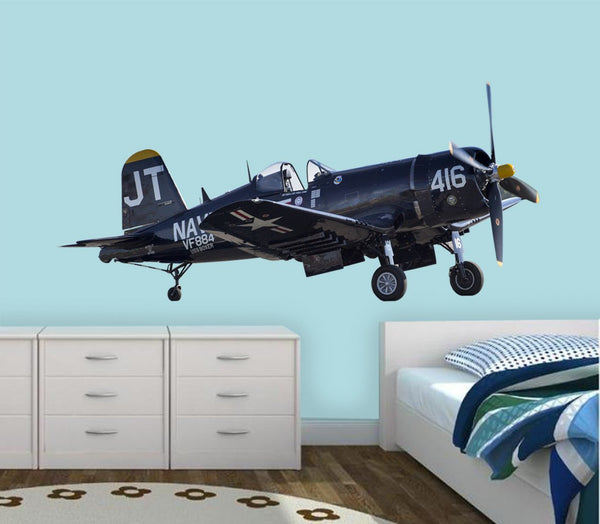 VWAQ Vintage Aircraft Wall Decal Classic Aviation Decor VWAQ-PAS19 - VWAQ Vinyl Wall Art Quotes and Prints