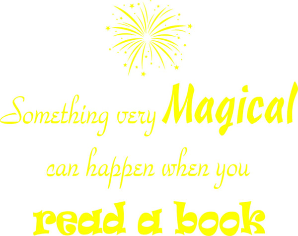 VWAQ Something Very Magical Can Happen When You Read A Book Classroom Reading Wall Decals - VWAQ Vinyl Wall Art Quotes and Prints