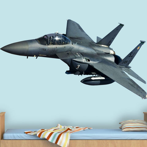 VWAQ F-15 Fighter Jet Wall Decal - Aviation Wall Decor - PAS17 - VWAQ Vinyl Wall Art Quotes and Prints