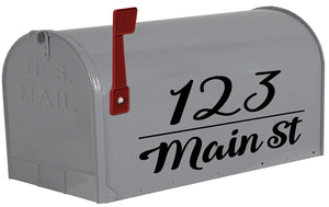 Monogram Mailbox Decals