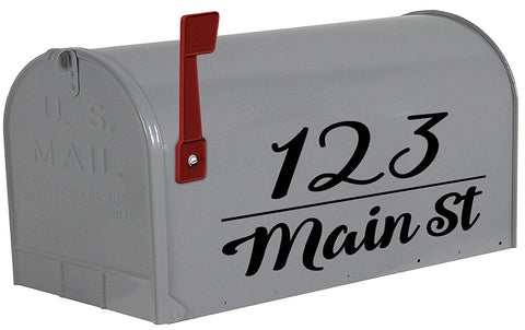 VWAQ Personalized Mailbox Address Decals Custom Mailbox Sticker Home Address - TTC21 - VWAQ Vinyl Wall Art Quotes and Prints