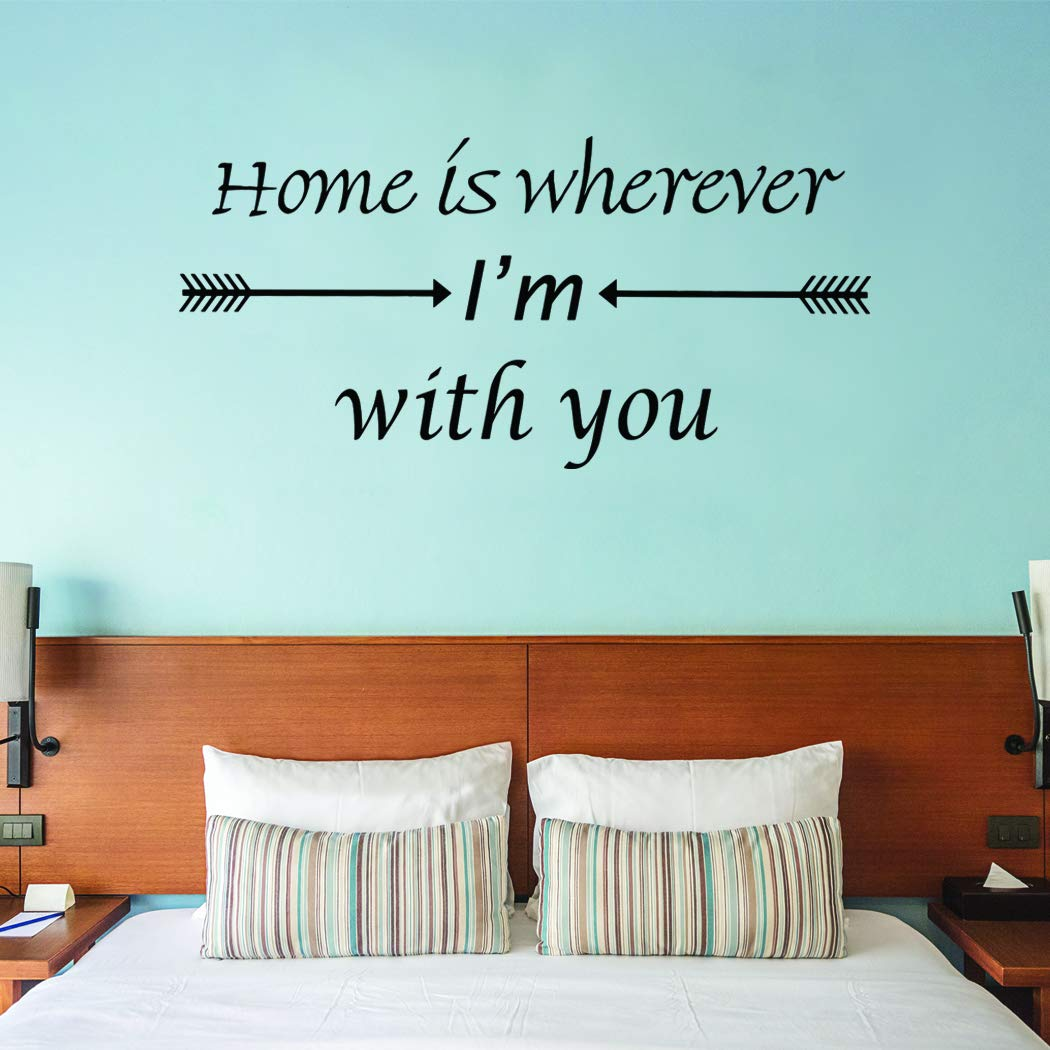 VWAQ Home is Wherever I'm With You Vinyl Wall Decal Love Quotes Wall Decor - VWAQ Vinyl Wall Art Quotes and Prints