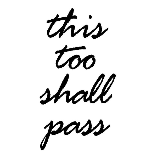 VWAQ This Too Shall Pass, Positive Sayings Uplifting Wall Art Decor Decals no background