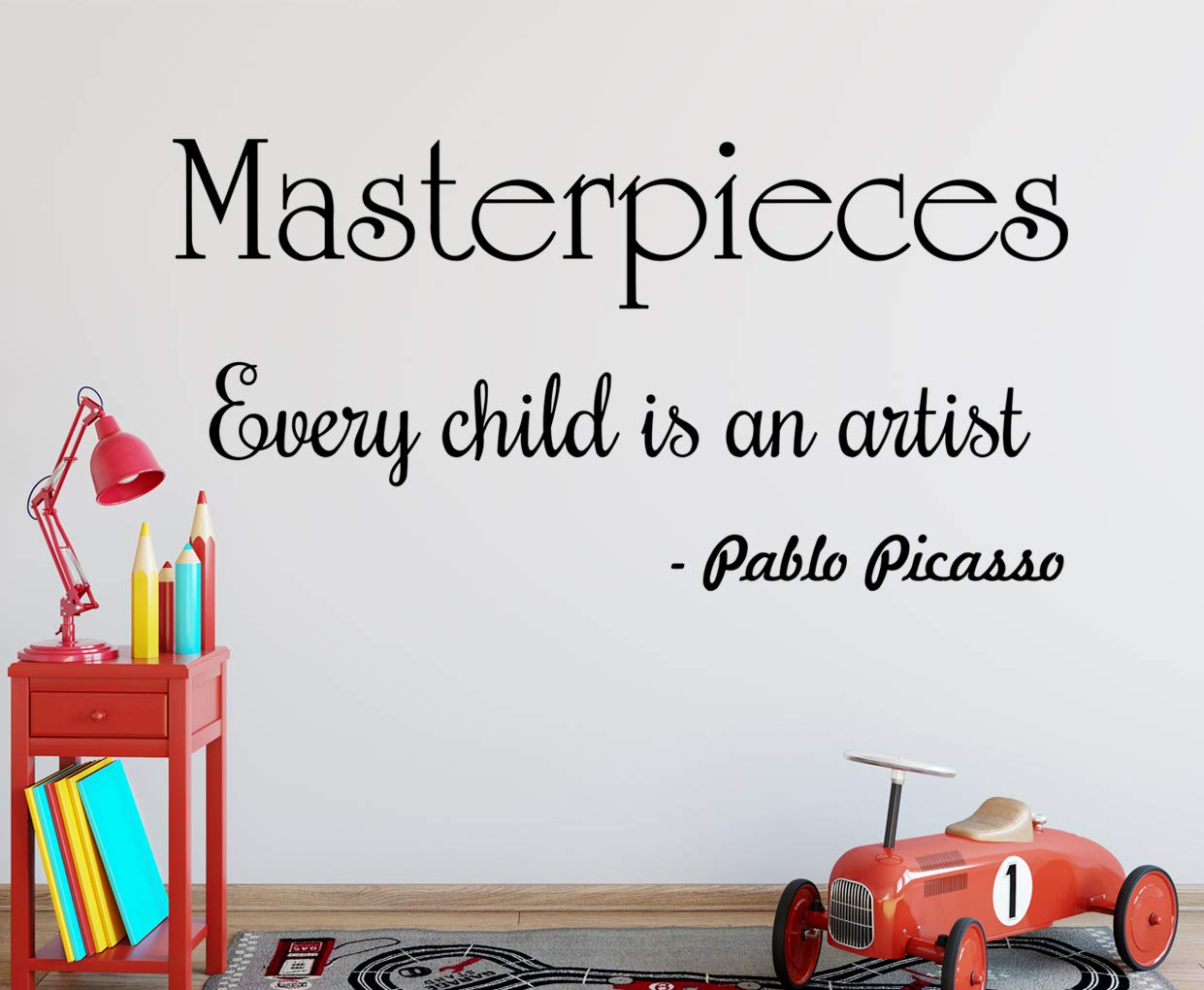 VWAQ Masterpieces Decal Every Child is an Artist Wall Decor Pablo Picasso Quotes Wall Art - VWAQ Vinyl Wall Art Quotes and Prints