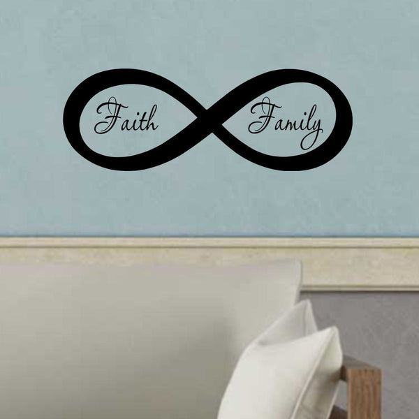 VWAQ Infinite Faith Family Wall Decor, Family Room Vinyl Wall Art Decal -18108 - VWAQ Vinyl Wall Art Quotes and Prints