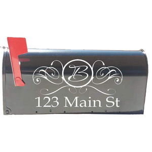 VWAQ Monogram Mailbox Decal and Street Name Address Mailbox Lettering - TTC15 - VWAQ Vinyl Wall Art Quotes and Prints