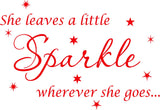 VWAQ She Leaves A Little Sparkle Wherever She Goes Wall Art Decal Sticker Decor for Girls Room - VWAQ Vinyl Wall Art Quotes and Prints
