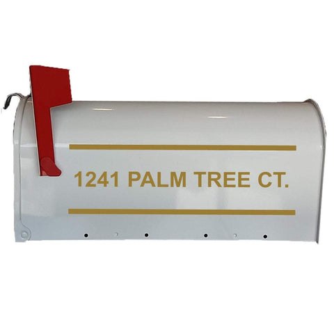 VWAQ Custom Mailbox Decals Personalized Street Address - CMB3 - VWAQ Vinyl Wall Art Quotes and Prints