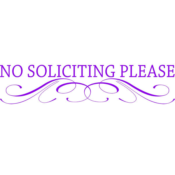 VWAQ No Soliciting Vinyl Decal for Door - Choice of Color - TTC12 - VWAQ Vinyl Wall Art Quotes and Prints