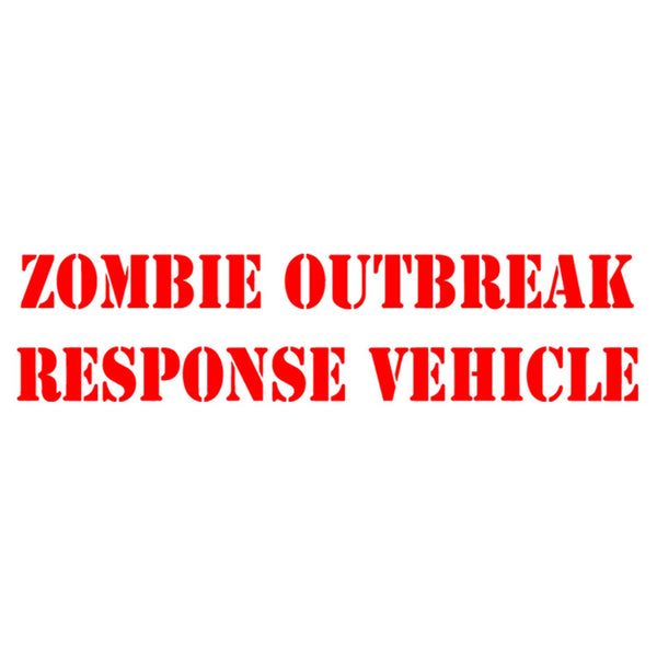 VWAQ Zombie Outbreak Response Vehicle Window Decal,- Die Cut Vinyl Sticker - VWAQ Vinyl Wall Art Quotes and Prints