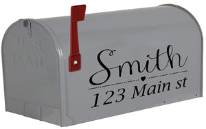 VWAQ Personalized Mailbox Name Sticker Custom Mailbox Address Decals - TTC19 - VWAQ Vinyl Wall Art Quotes and Prints