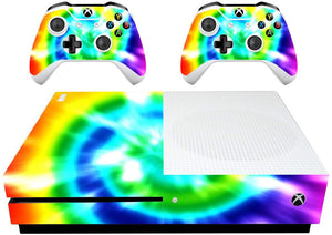VWAQ Xbox One S Rainbow Skin Tie Dye Xbox One Slim Decal Covers - XSGC2 - VWAQ Vinyl Wall Art Quotes and Prints