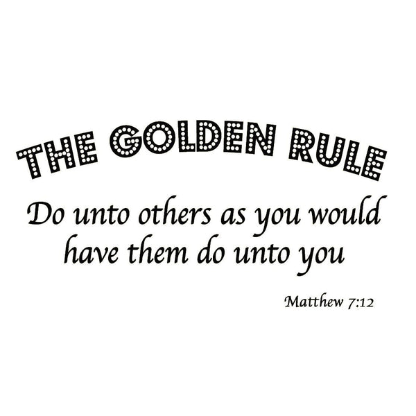 VWAQ The Golden Rule Do Unto Others Matthew 7:12 Bible Vinyl Wall Decal - VWAQ Vinyl Wall Art Quotes and Prints no background