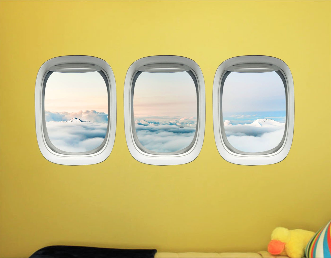 Airplane Wall Decals For Kids Rooms - Aviation Wall Stickers, Plane Window Clings -PPW36 - VWAQ Vinyl Wall Art Quotes and Prints