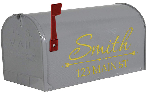 VWAQ Personalized Name on Mailbox Decals - TTC17 - VWAQ Vinyl Wall Art Quotes and Prints