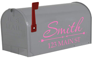 VWAQ Mailbox Custom Name Decal Personalized Mailbox Address Vinyl Sticker - TTC17 - VWAQ Vinyl Wall Art Quotes and Prints